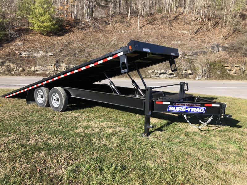 2020 Sure-Trac 102x22 Bumper/Pintle Hydraulic Tilt Deckover Equipment Trailer