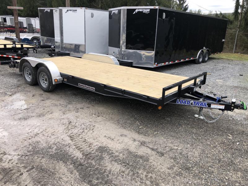 2020 Load Trail 83X20 Wood Car Hauler Alum Removable Fenders Car / Racing Trailer