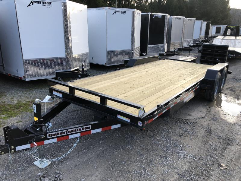 2020 Sure-Trac 82x20 7Ton w/Full Width Bed Leveling Ramps Equipment Trailer