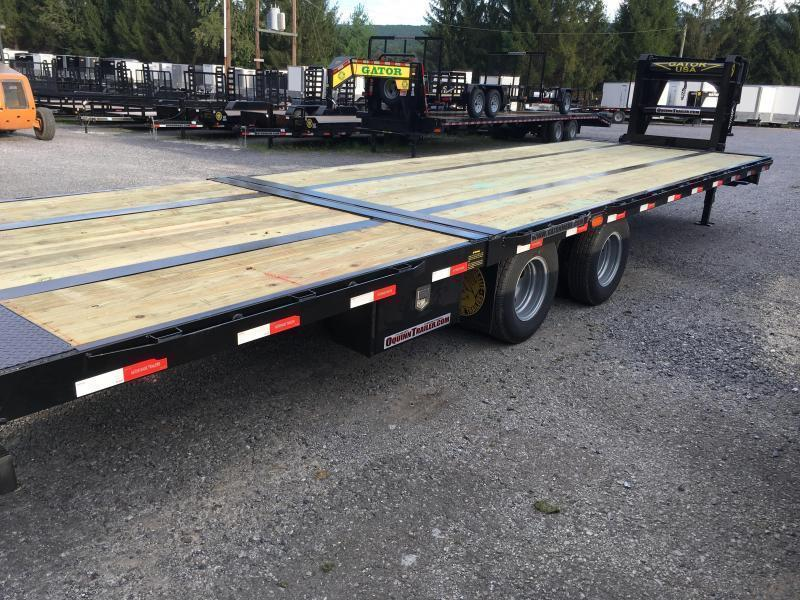 2019 Gatormade Trailers 30ft 20plus10 hydraulic dove tail tandem dual GN Equipment Trailer