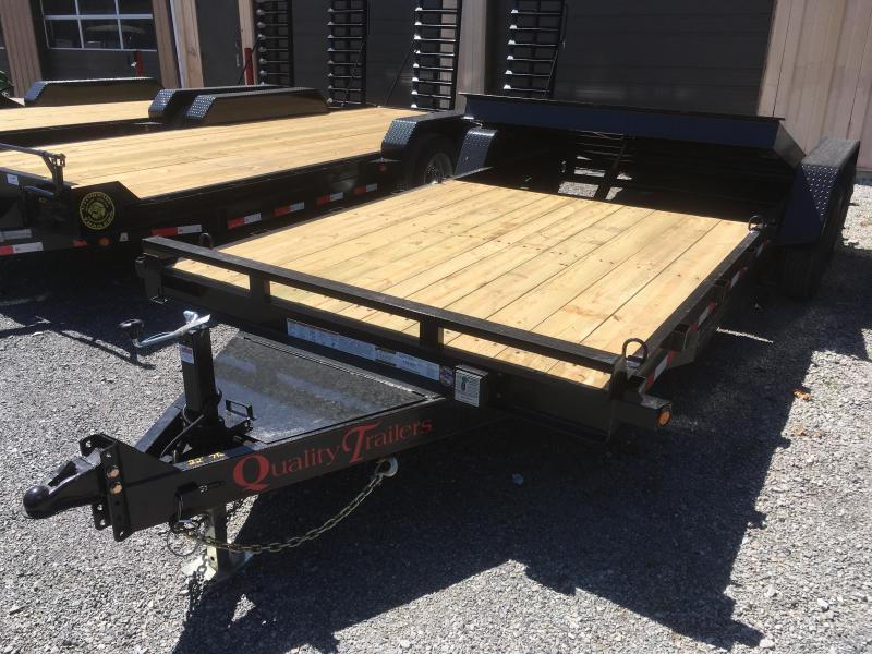 2020 Quality Trailers 82x22(8+14) 7ton Tilt bumper pull Equipment Trailer