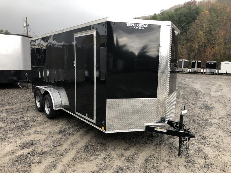 2020 Triple Crown 7x16 V-Nose sd ramp Enclosed Cargo Trailer