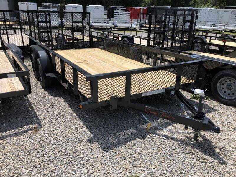 """2020 Quality Trailers 82x16 18"""" Mesh Sides w/dovetail Utility Trailer"""