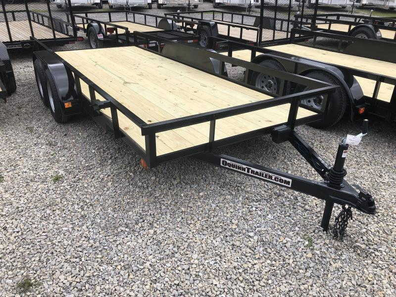 2020 76x16 tandem utility with brakes and no gate w/slide under ramps Utility Trailer