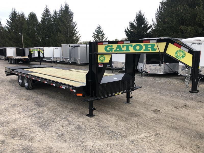 2020 Gatormade Trailers 25ft 8Ton Gooseneck big goliath ramps Equipment Trailer