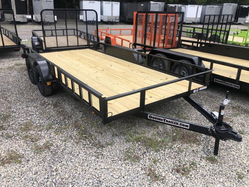 2020 Triple Crown 82x16 tandem axle side load ramps no gate Utility Trailer