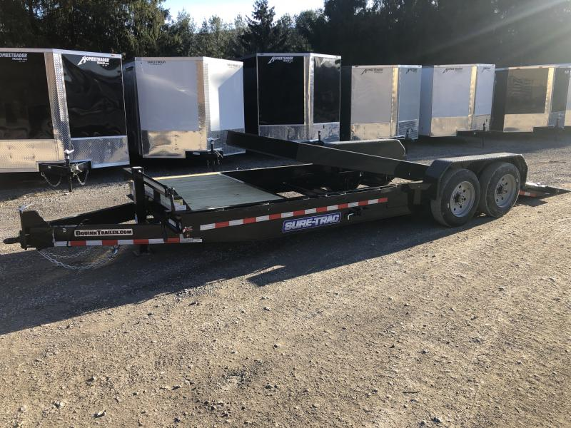 2020 Sure-Trac HD 82x22 4+18 Tilt 8Ton 8k axles 17.5 tires Equipment Trailer
