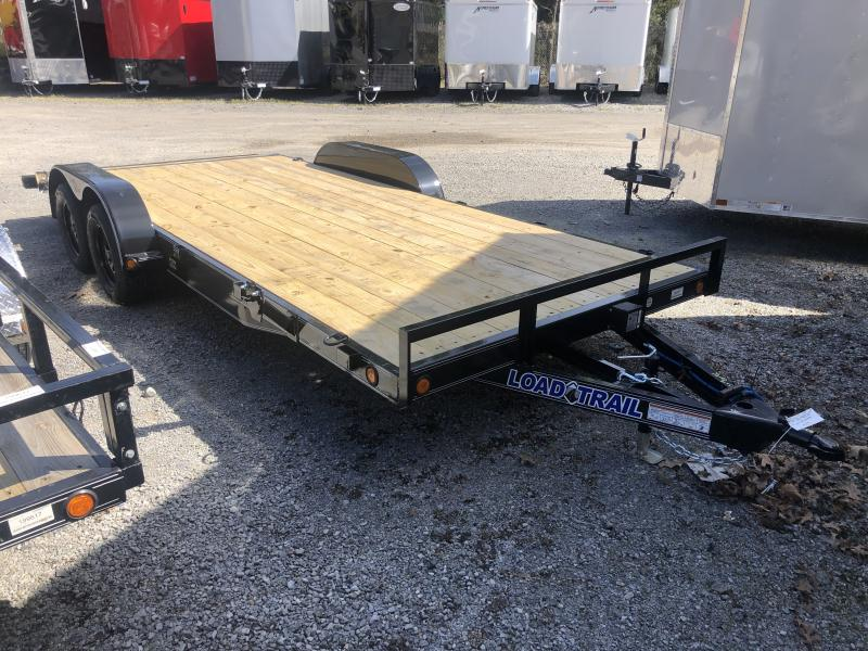 "2020 Load Trail 83X18 Wood Car Hauler 5""channel frame removable fenders"