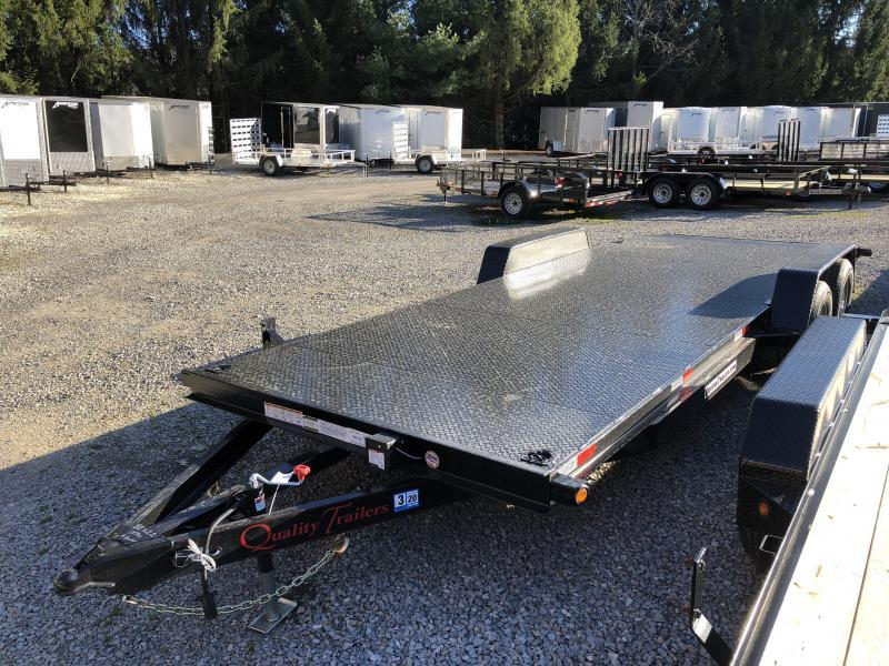 2020 Quality Trailers 82x22 5ton steel floor car hauler left removable fender 4brk Car / Racing Trailer