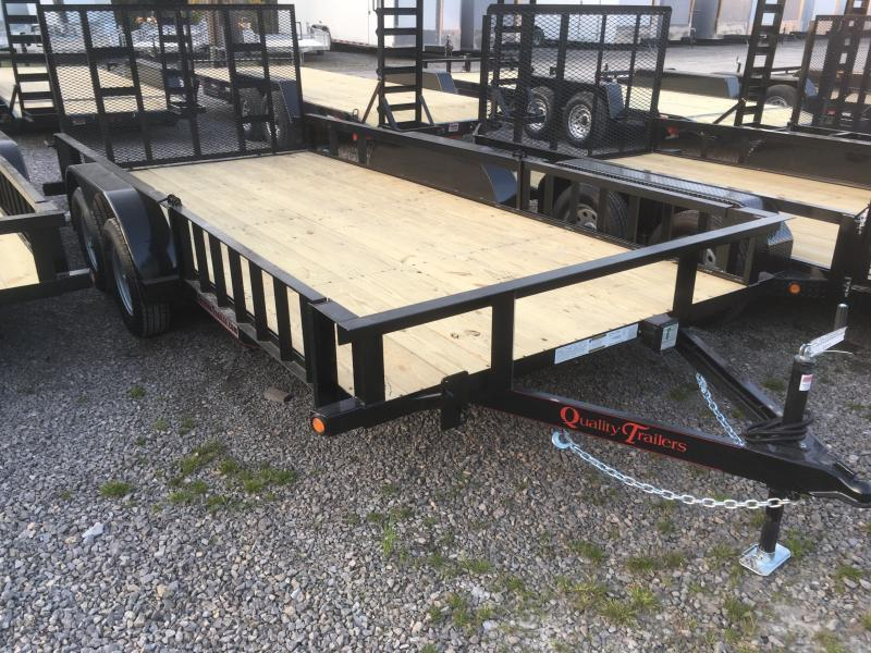 2020 Quality Trailers 82x16 side load ramps 4brake HD Gate Utility Trailer