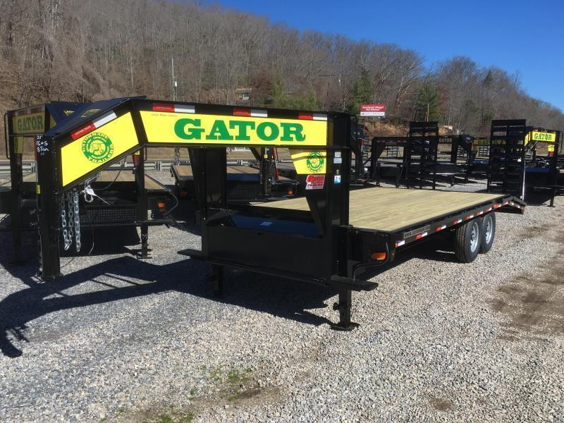 2020 Gatormade Trailers 21ft 8Ton Gooseneck Stand Up Ramps Equipment Trailer