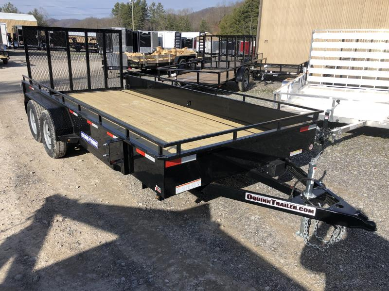 2020 Sure-Trac 82x16 Solid Steel Side Tandem Axle Utility Trailer