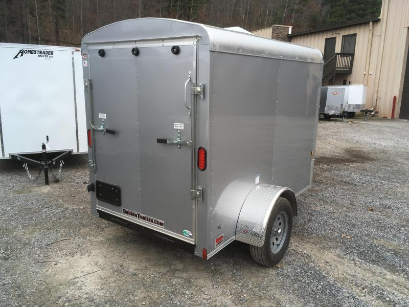 2018 Cargo Mate Blazer 5x8 Round Top 12in extra ht Ramp Door Silver Enclosed Cargo Trailer