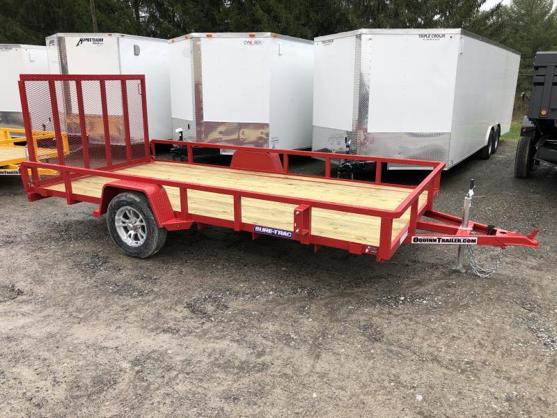 2020 Sure-Trac 82x14 Single Axle Tube Top w/Alum Wheels Utility Trailer