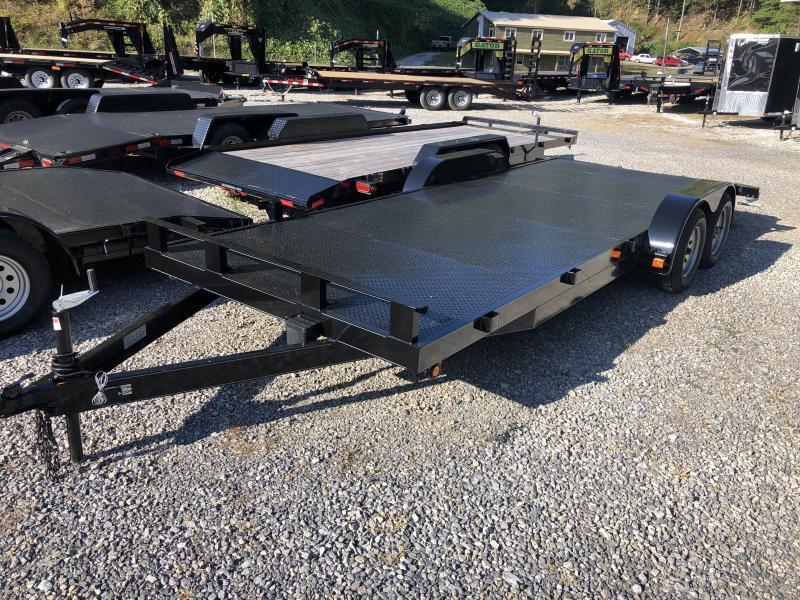 2019 Other 82x20 steel floor left removable fender rear ramps car hauler-5 Car / Racing Trailer