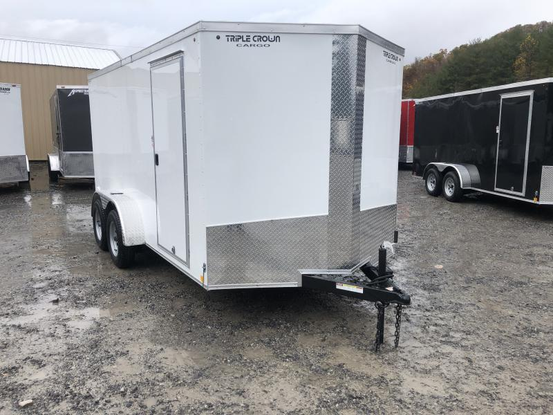 2020 Triple Crown 7x14 V-Nose sd ramp Enclosed Cargo Trailer