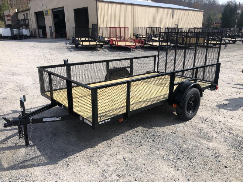 2020 Triple Crown 76x12 single axle w/gate 2' mesh sides Utility Trailer