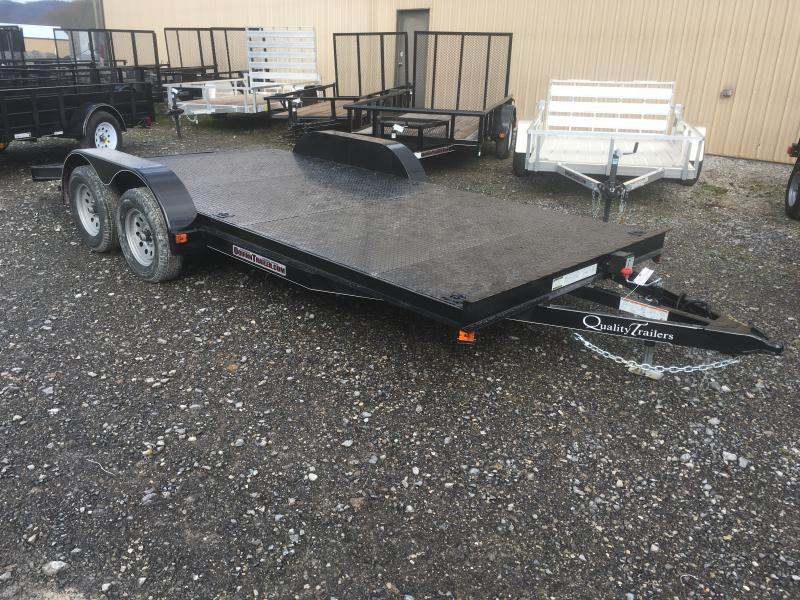 2019 Quality Trailers 82x18 steel car hauler Car / Racing Trailer