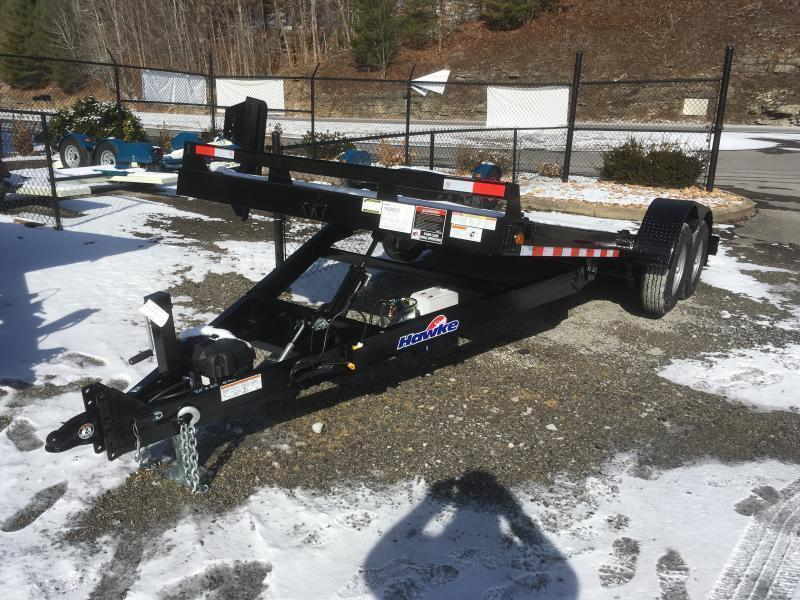 2020 Hawke Trailers 81x20 10k hydraulic tilt steel floor w/winch plate Equipment Trailer