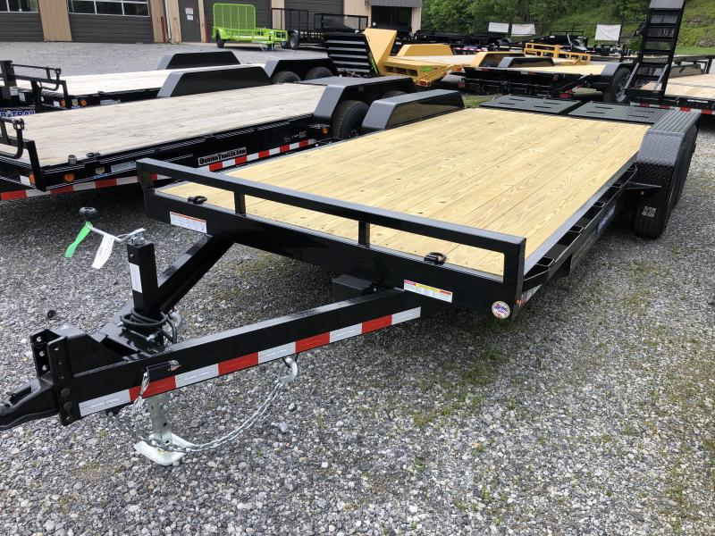 2020 Sure-Trac 82x18 7Ton w/Full Width Bed Leveling Ramps Equipment Trailer