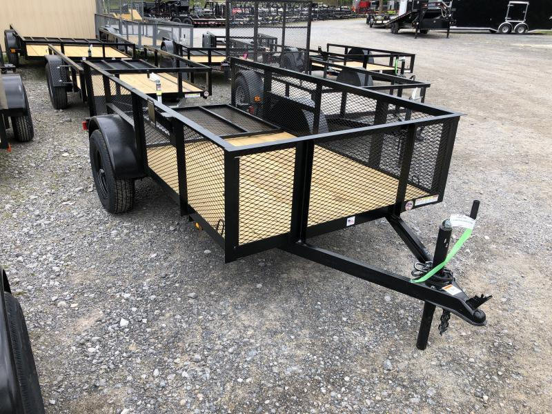 2020 Triple Crown 5x10 2' Mesh Sides single axle w/gate Utility Trailer