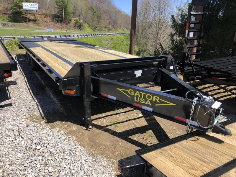2020 Gatormade Trailers 25ft 7ton deckover Goliath Ramps bumper pull Equipment Trailer
