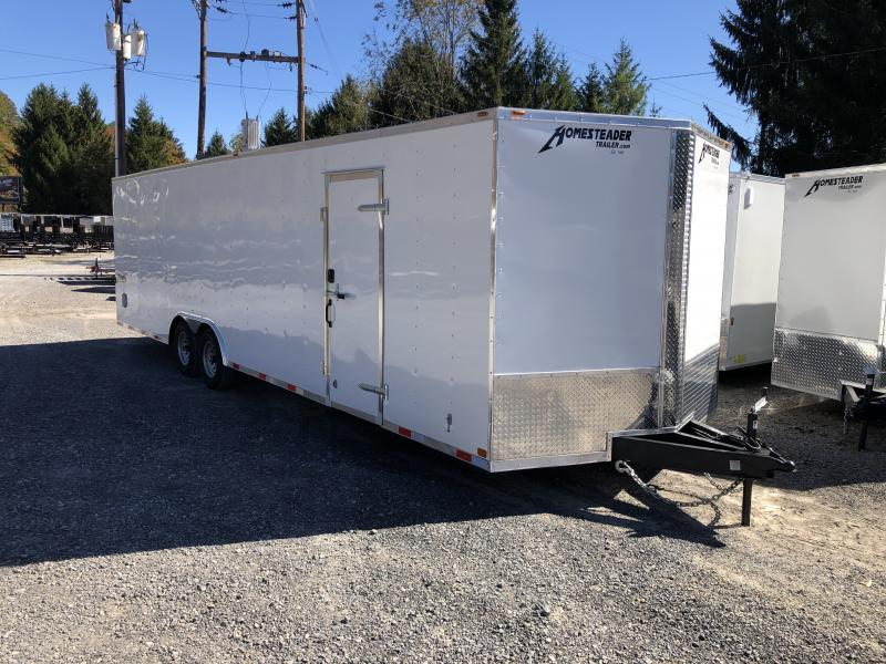2020 Homesteader 8.5x28 Intrepid V-Nose 5 ton car hauler Enclosed Cargo Trailer