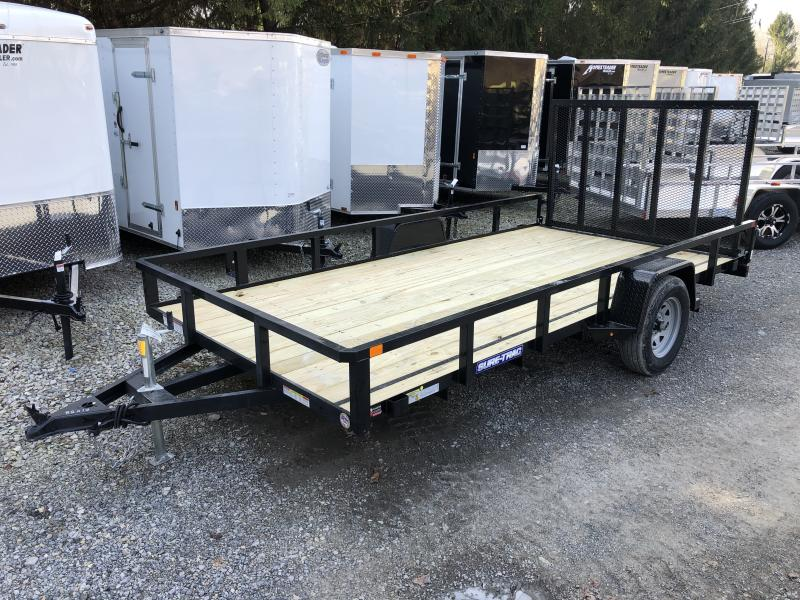 2020 Sure-Trac 82x14 Single Axle Tube Top Utility Trailer