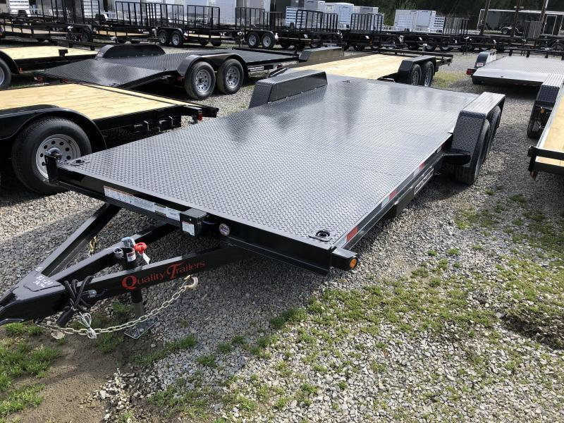 2020 Quality Trailers 82x20 steel car hauler left removable fender 4brk Car / Racing Trailer