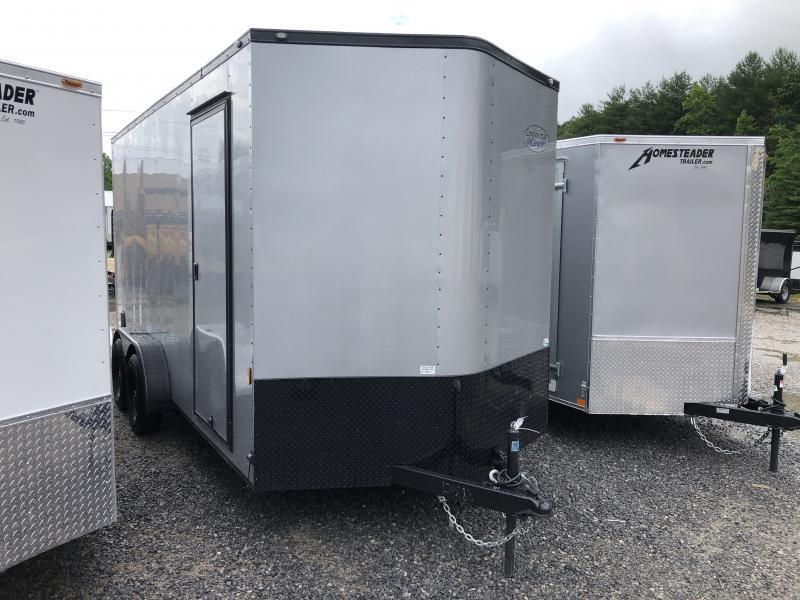 "2020 Continental Cargo 7x16 vnose 12"" extra ht sd ramp blackout pkg"