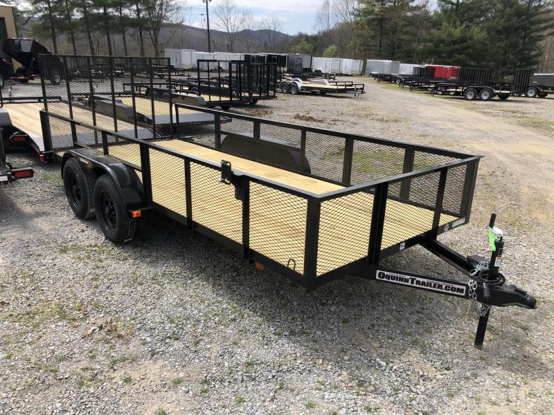 2020 Triple Crown 76x16 tandem axle w/gate and 2' mesh sides Utility Trailer