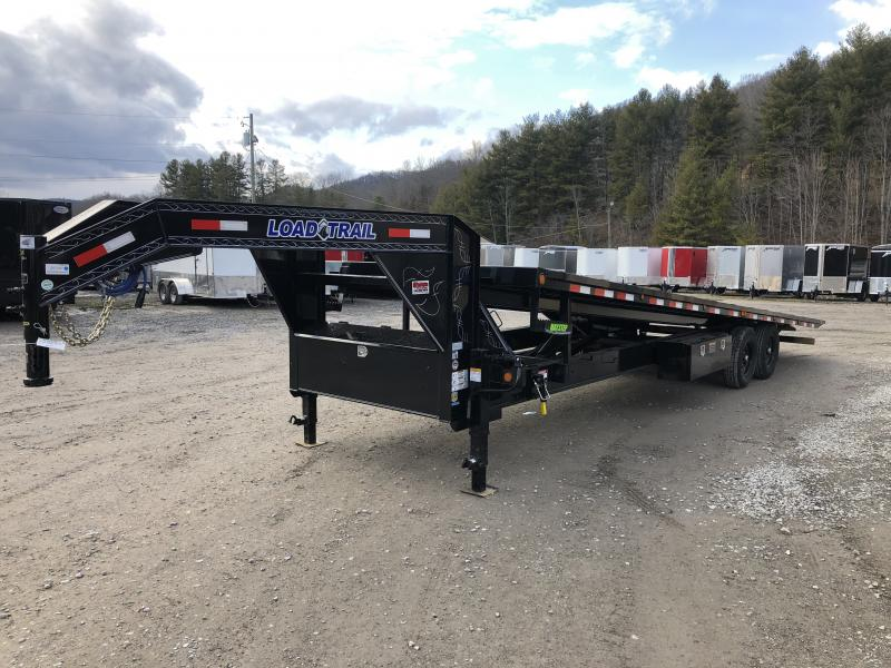 2020 Load Trail 28' Deckover Gooseneck Hydraulic Tilt 7Ton Equipment Trailer