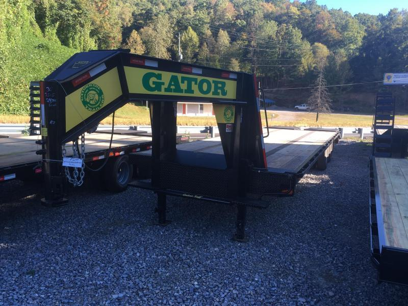 2020 Gatormade Trailers 30FT 25+5 GOOSENECK TANDEM DUAL GOLIATH RAMPS Equipment Trailer