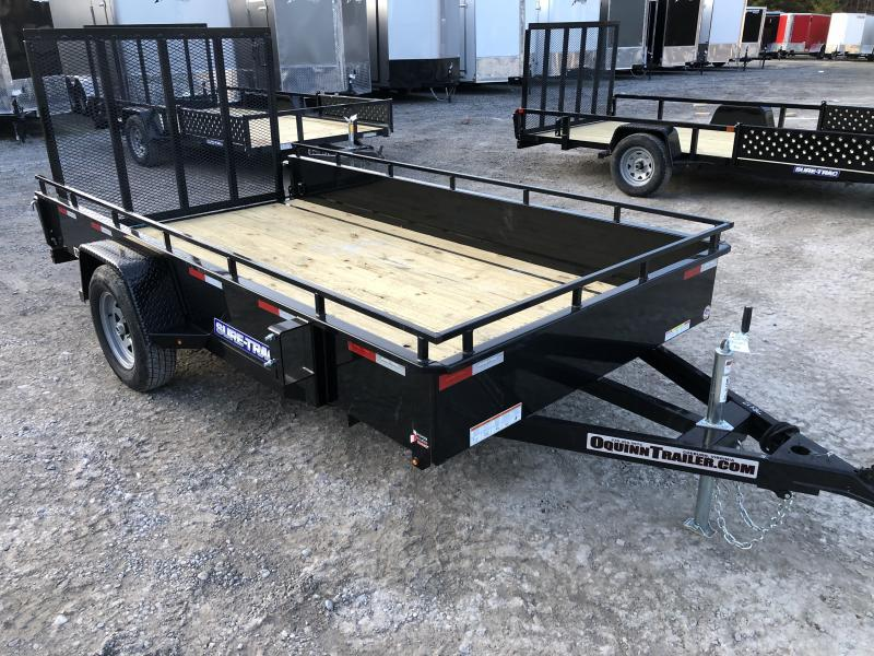 2020 Sure-Trac 6x12 Single Axle Solid Steel Sides Utility Trailer