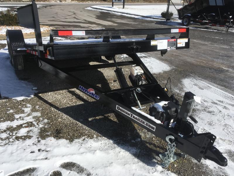 2020 Hawke Trailers 81x20 10k hydraulic tilt steel floor Equipment Trailer