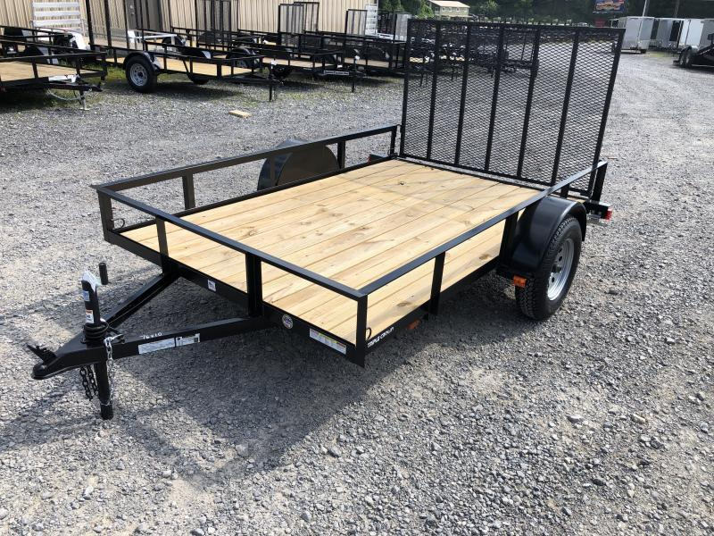 2019 Triple Crown 76x10 single axle w/gate Utility Trailer