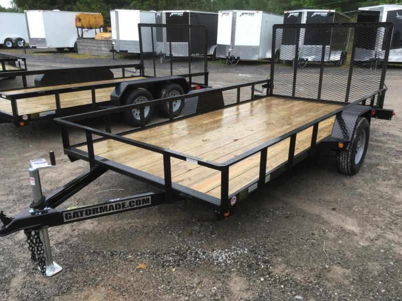 2020 Gatormade Trailers 76x14 single axle gate Utility Trailer