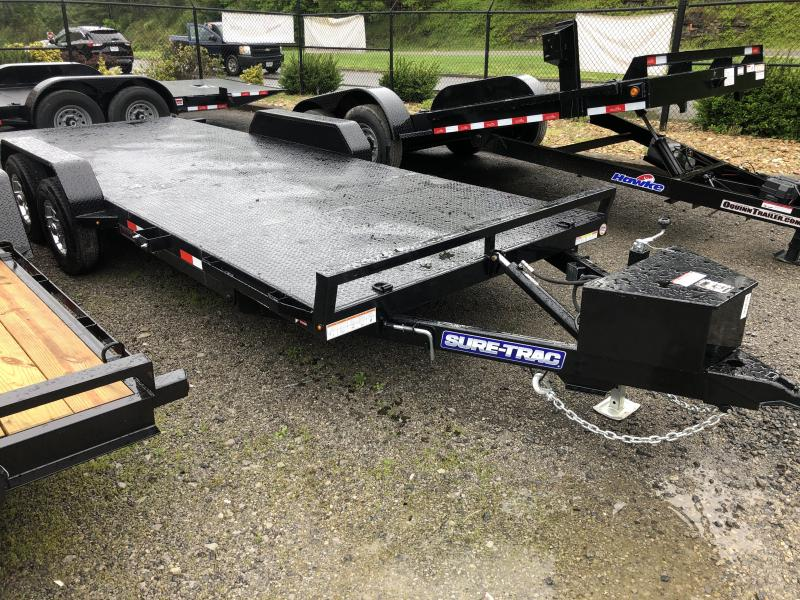2020 Sure-Trac 82X20 Power Tilt Steel Floor 10k Car / Racing Trailer