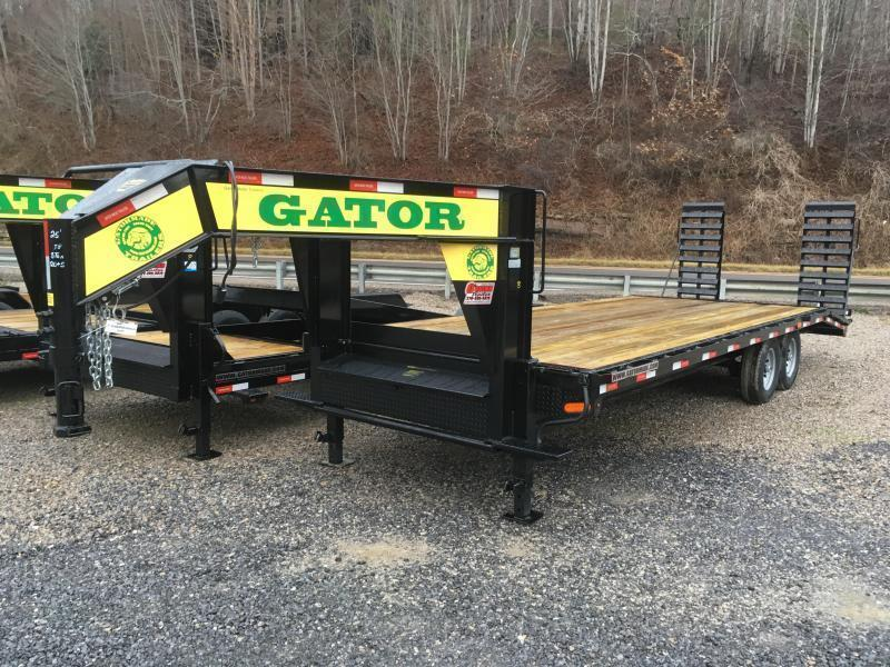 2019 Gatormade Trailers 25ft 8Ton Gooseneck stand up ramps Equipment Trailer