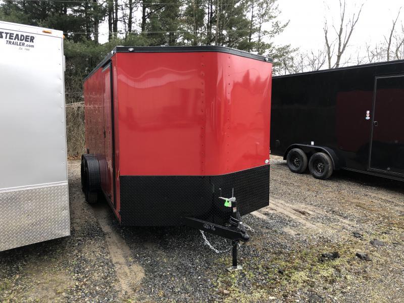 2021 Continental Cargo 7x16 vnose black out sd ramp door Enclosed Cargo Trailer