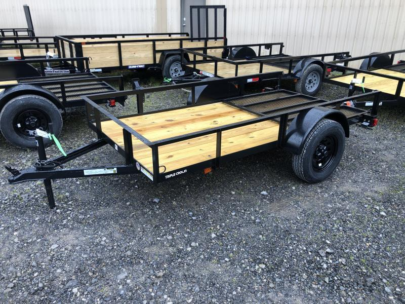 2020 Triple Crown 5x10 single axle w/gate Utility Trailer