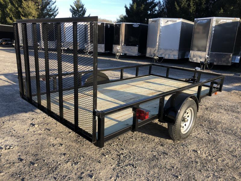 2020 Other (Not Listed) 76x12 gate HD tube top single axle Utility Trailer