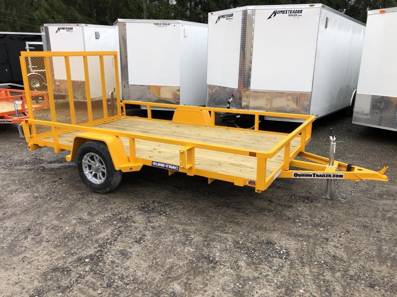 2020 Sure-Trac 82x12 Single Axle Tube Top w/Alum Wheels Utility Trailer