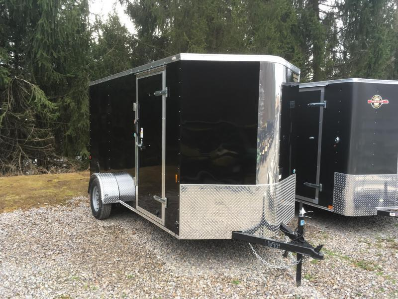 2019 Continental Cargo 6x12 V-Nose Side Door Ramp Door Enclosed Cargo Trailer