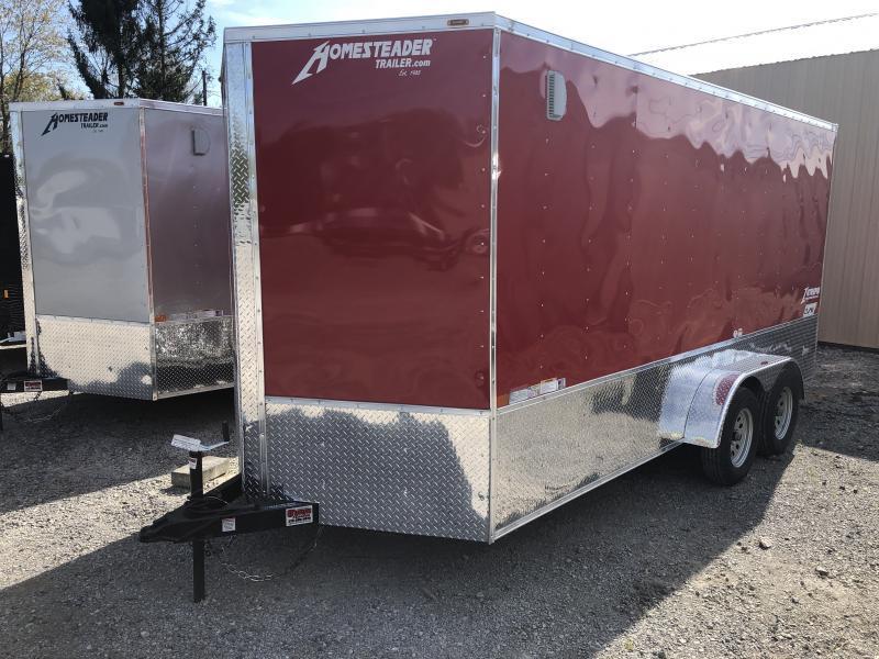 2020 Homesteader 7x16 Intrepid sd ramp OHV pkg 1ft extra height sd ramp Enclosed Cargo Trailer