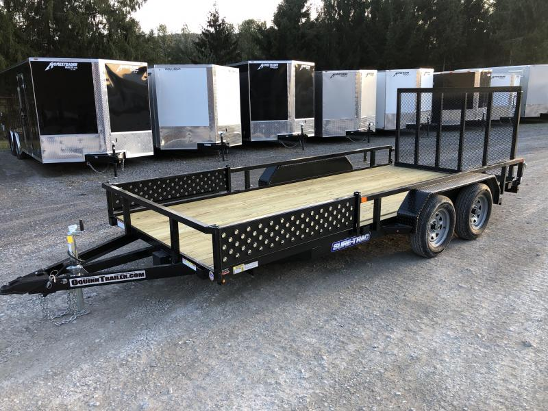 2020 Sure-Trac 82x16 Side Load ATV Ramps Tube Top w/gate Utility Trailer
