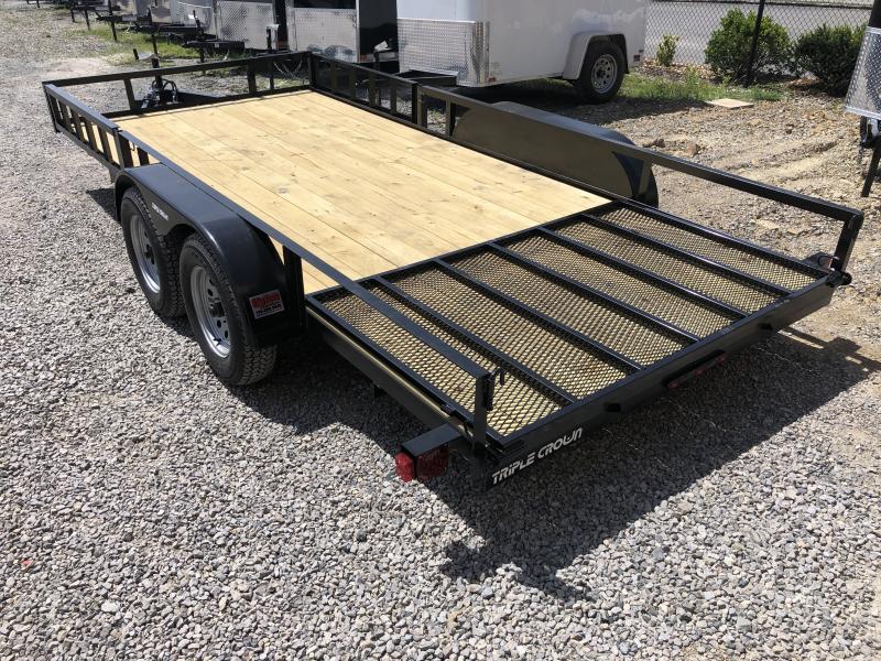 2020 Triple Crown 82x16 tandem axle side load ramps w/gate Utility Trailer