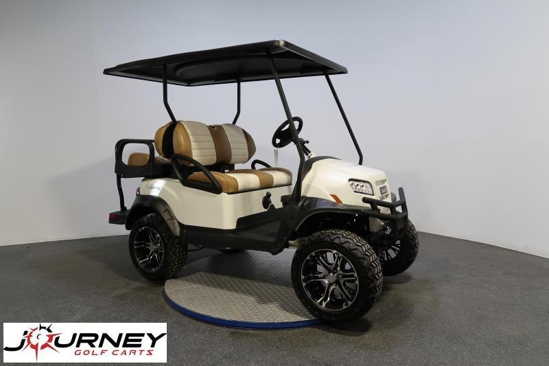 2020 Club Car Onward 4 Passenger Lifted Glacier White Metallic