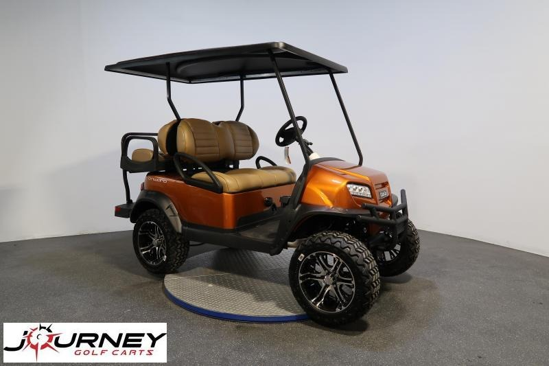 2020 Club Car Onward 4 Passenger Lifted Atomic Orange Metallic LED Lights