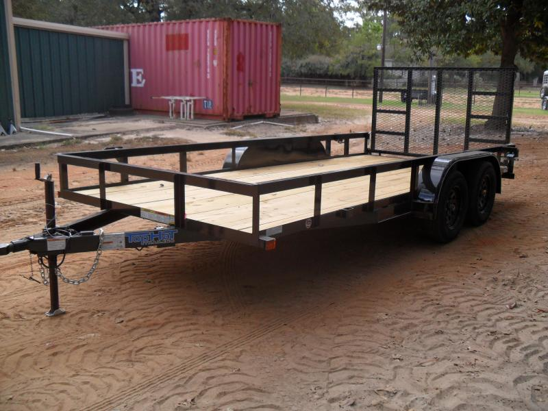 2020 Top Hat Trailers 16 x 83 angle iron top Utility Trailer